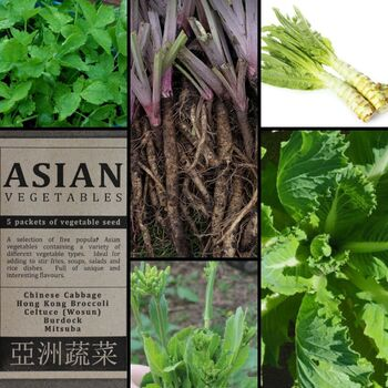 """Asian Vegetables"" Seed Collection"