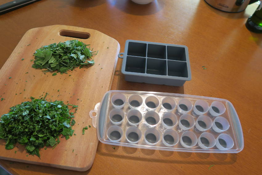 Herb ice cubes 4